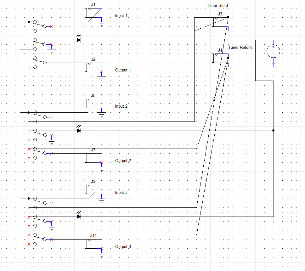 3pdt Switch Wiring Diagram For Stomp Boxes Schematics Schematic Get Free Image About 100v Motor