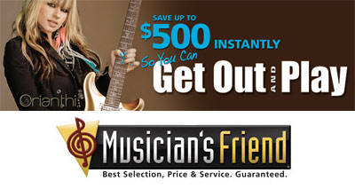 The Musicians Friend online store specializes in musical instruments at affordable prices. At one of the largest retailers for all kind of music gear, you can score some awesome deals. Even international customers can benefit from the daily offers at Musicians Friend.