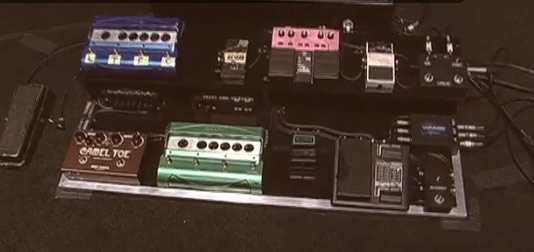 Mike Campbell Pedalboard