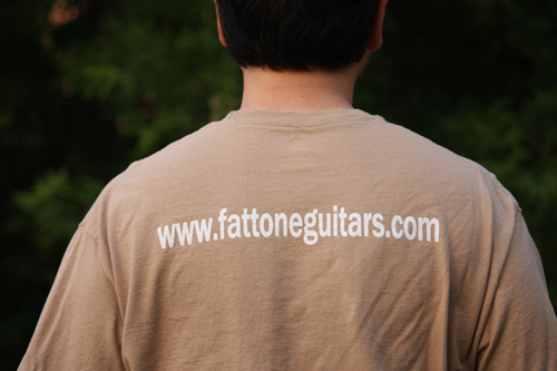 Free Shirt Wednesday - Fat Tone Guitars Back