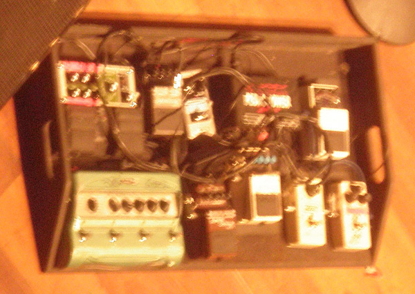 Jimmy Smith pedal board 2010