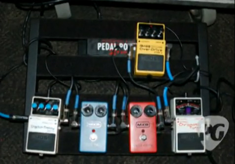 Melvins' King Buzzo Pedal Board
