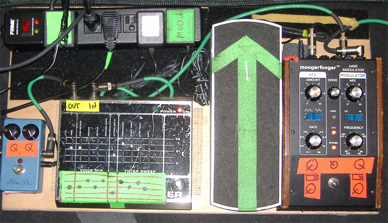 Sonic Youth's Lee Ranaldo Pedalboard