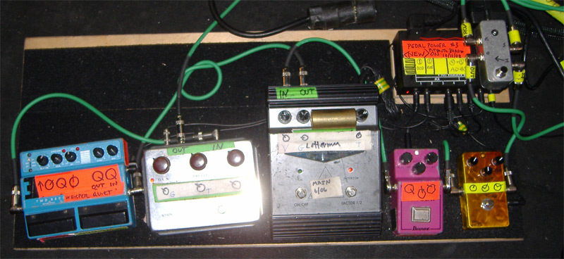 Sonic Youth's Lee Ranaldo Pedalboard #2