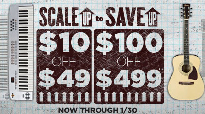 guitar center coupon scale up to save up effects bay. Black Bedroom Furniture Sets. Home Design Ideas