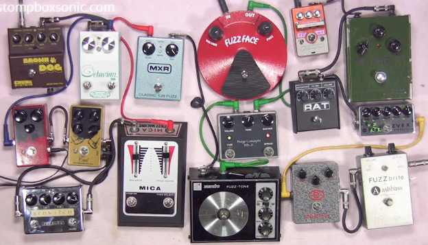 Andy and his 16 fuzz pedals video