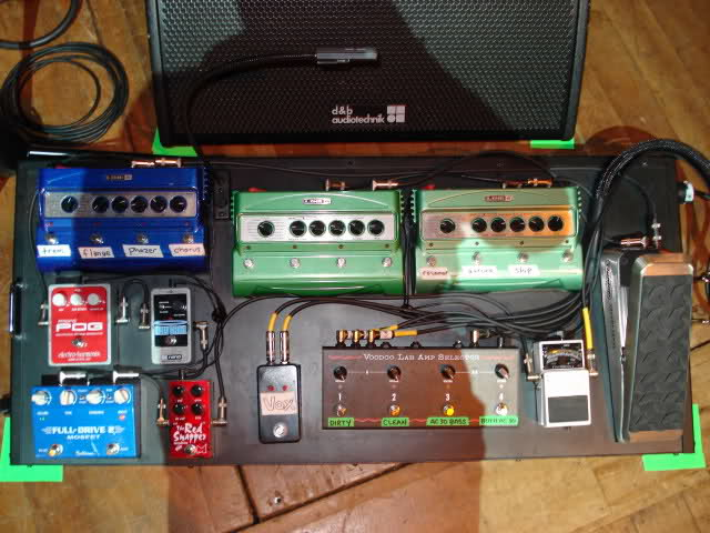 Chris Shiflett - Foo Fighters - Pedal Board