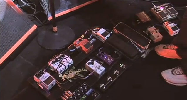 Dave Kilminster Pedal Board