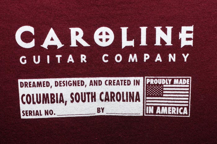 Free Shirt Wednesday - 4/13 - Caroline Guitar Company (back)