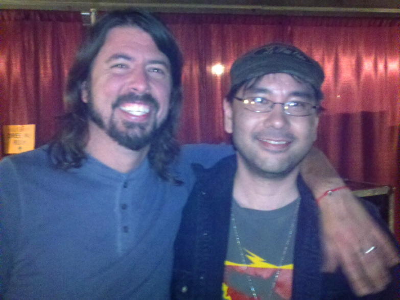 Dave Grohl and myself after the show