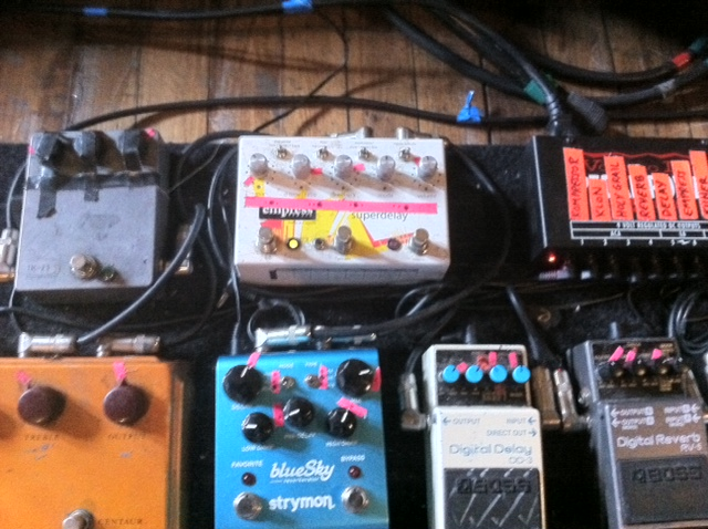 Yannis Foals Pedal Board Close Up