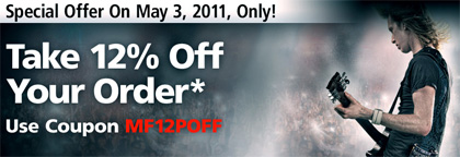 Special one day only Coupon Code for Musician's Friend!