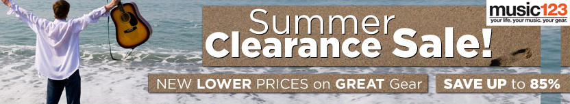 Music123 Summer Clearance Sale!
