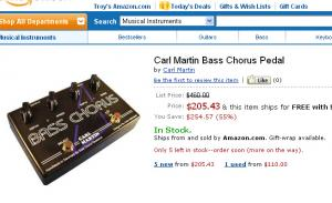 Awesome deal on the Carl Martin Bass Chorus Pedal
