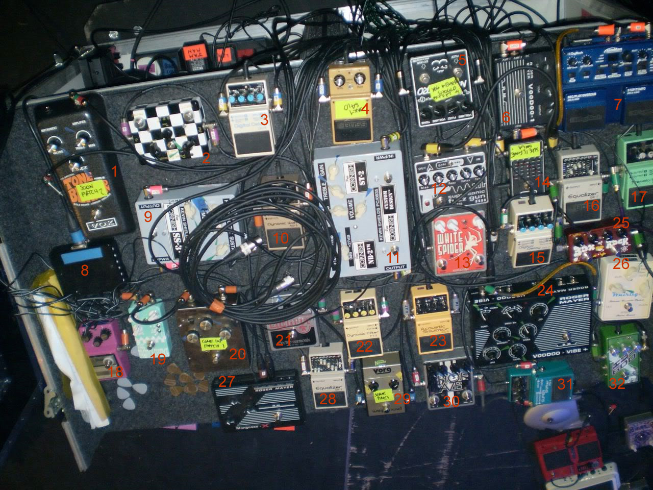 Kevin Shields My Bloody Valentine Pedal Boards Effects Bay Pedalboard Wiring Diagram