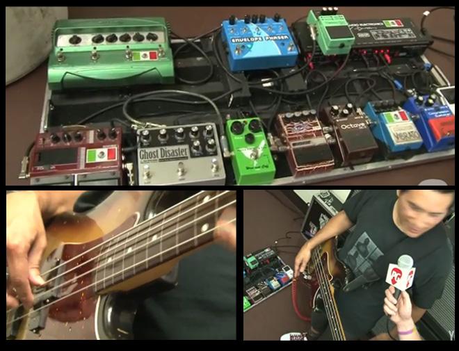 Juan Alderete - The Mars Volta - Pedal Board