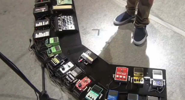Mike Einziger - Incubus - Pedal Board
