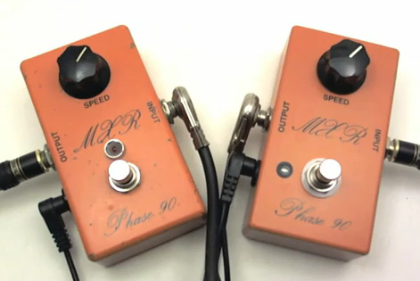 Vintage Script Logo Phase 90 and 1974 Handwired Reissue Phase 90 Comparison