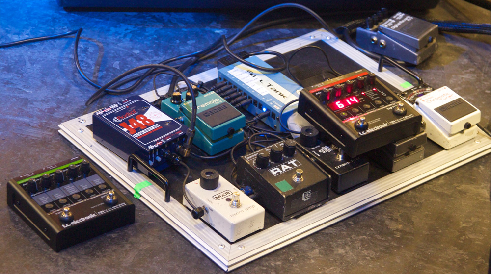 Sune Rose Wagner - The Raveonettes - Pedal Board