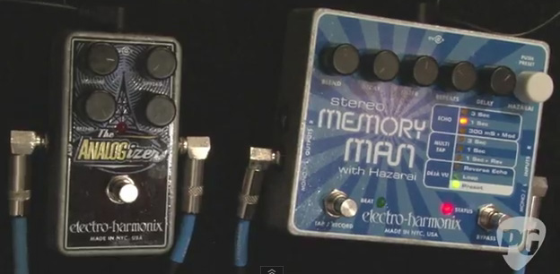 Electro-Harmonix Analogizer and Deluxe Memory Man 550-TT at NAMM