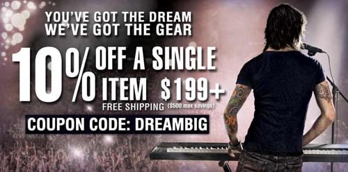 Musician's Friend - Dare to Dream Big Sale