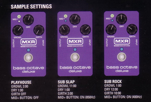 Guest Review: MXR M288 Bass Octave Deluxe by Jeremy Cohen - Settings