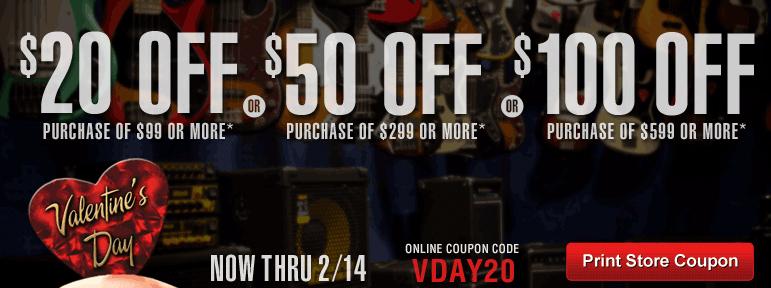 Guitar Center - Valentine's Day Sale