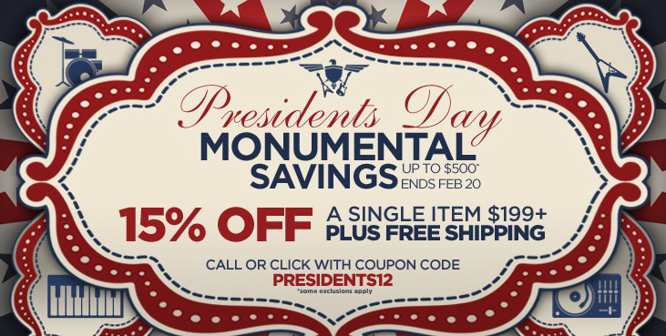 musician 39 s friend president 39 s day sale coupon code effects bay. Black Bedroom Furniture Sets. Home Design Ideas