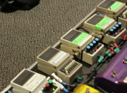 Ritzy Bryan Pedal board of The Joy Formidable 3