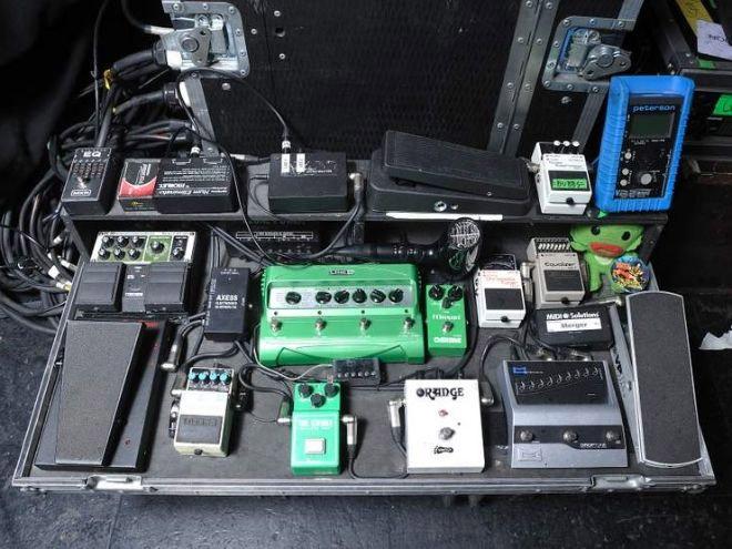 Brent Hines - Mastodon - Pedal Board