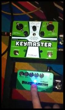 Pigtronix Keymaster, PolySaturator on Keyboard