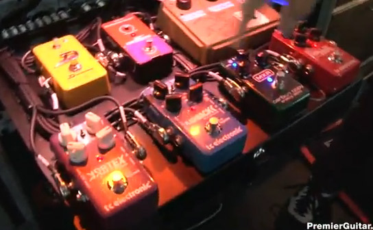Joe Perry - Aerosmith – Rig Rundown - Backline Pedals
