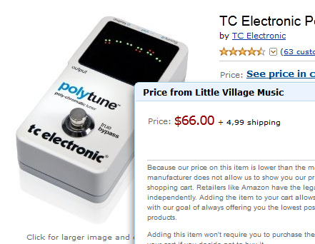 Super Good Deal on TC Electronic Polytune Tuner