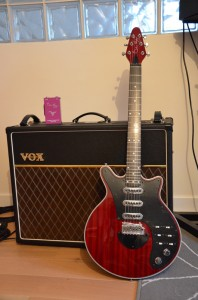 Red Special Brian May Guitar, Vox AC30C2X, Fryer Treble Booster Deluxe