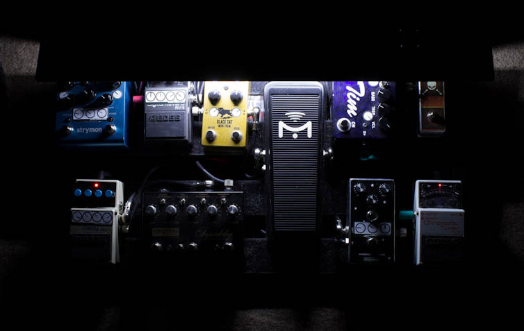 StageLitePro On-Stage Lighted Pedal Guards - Guitarist View