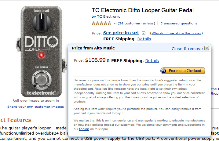 Nice Deal on the TC Electronic Ditto Looper