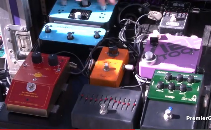 Pedalboard Break Down - Steve Stevens