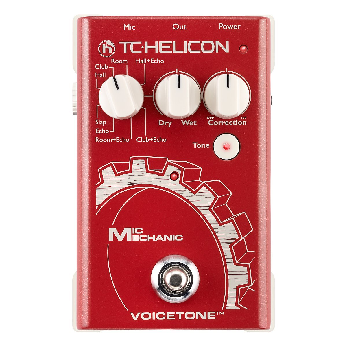 TC Helicon Voice Tone Mic Mechanic Vocal Effects Pedal