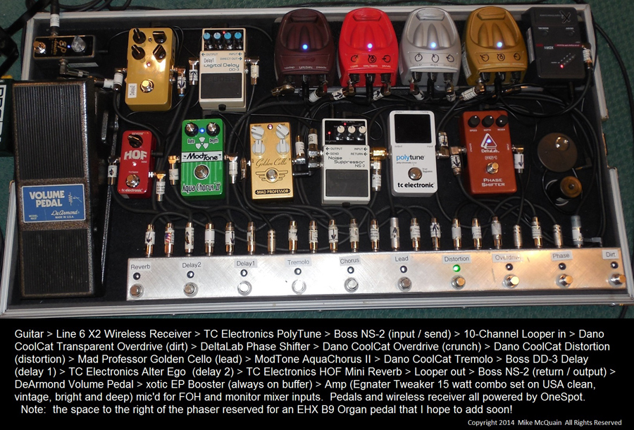Pedal Line Friday - 10/24 - Mike McQuain