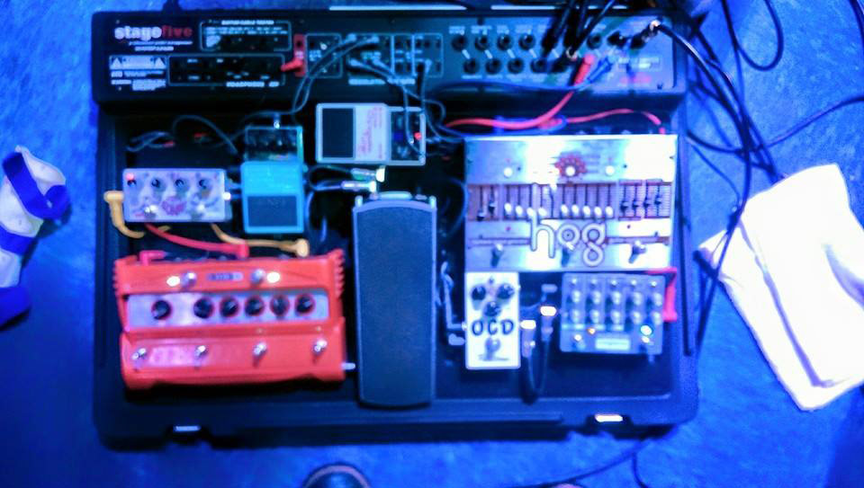 Jared Walker's Pedal Board of Foxygen