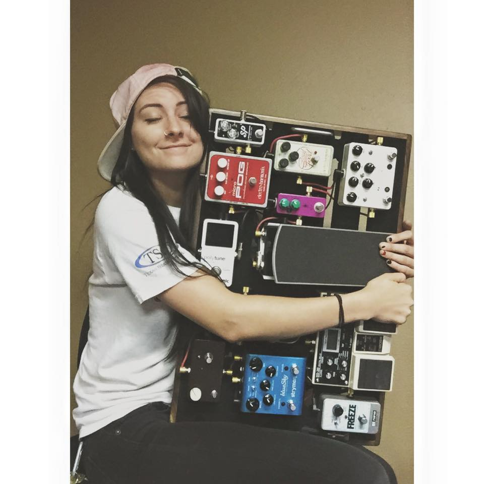 Talking with Kellie and her Creation Music Company pedalboard