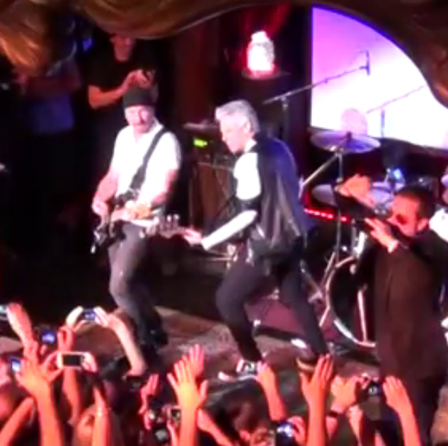 The Edge and Adam Clayton Sit In on U2 Cover Band