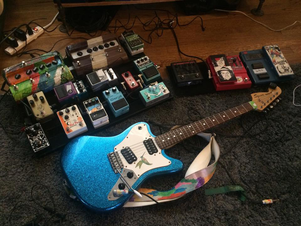 Pedalboard of Nick Reinhart of Tera Melos 2015