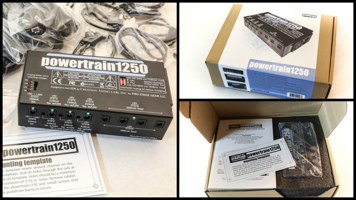Pedaltrain Powertrain 1250 Review / Assembly
