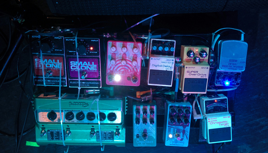 Pedalboards for the band DIIV - Zachary Cole Smith
