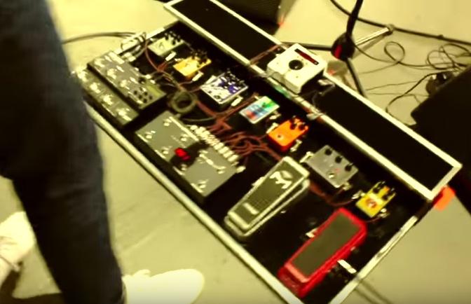 Jeff Schroeder - Smashing Pumpkins - Pedalboard