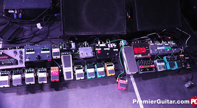 Bloc Party Pedalboard Russell Lissack