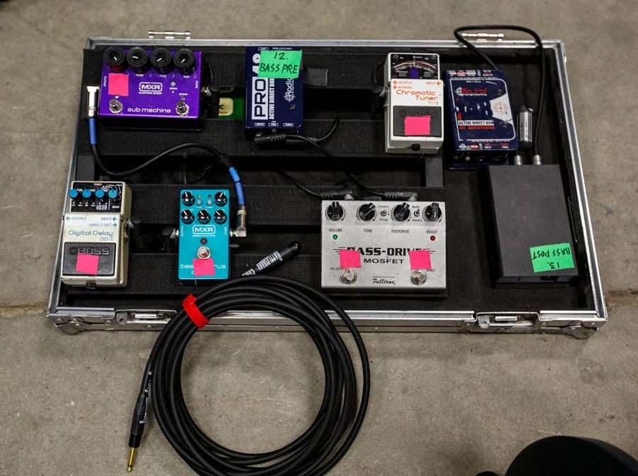 The Twilight Sad - Johnny Docherty Pedalboard 2016
