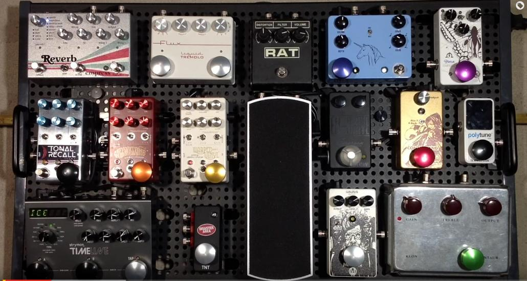 Curtis' Temple Audio Trio 28 Pedalboard Demo