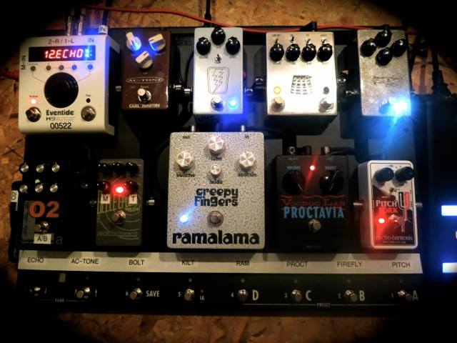 Pedalboard for Robin Finck of Nine Inch Nails